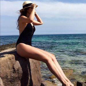 Zara black one piece swimsuit